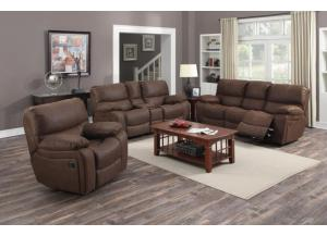 Ramsey Rodeo Brown Reclining Sofa, Loveseat, & Glider Recliner
